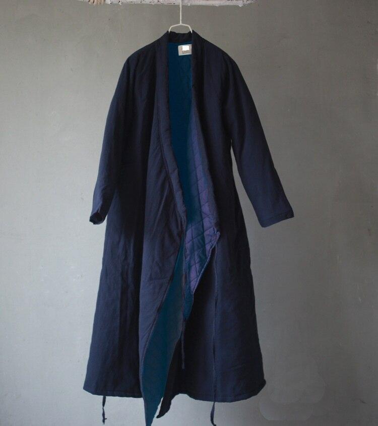 Style bleu Couleurs Noir Parkas Robes Grande Vêtements Femmes Le Chaud rouge Solides Coton Épaissir Vers Taille Bas 2017 Longue National Hiver Manteaux Et Vintage 5qnB4