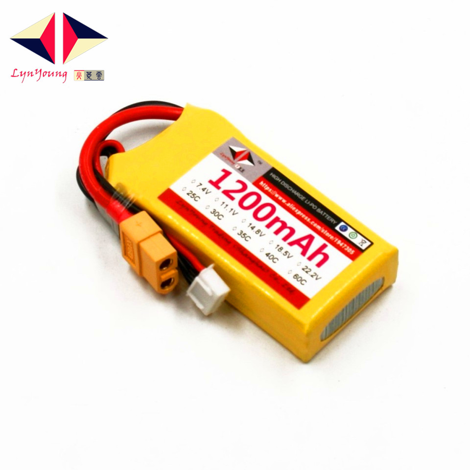 LYNYOUNG 3S Lipo rc battery 11.1V 1200mAh 30C for RC Truck Car Boat Helicopter plane 1s 2s 3s 4s 5s 6s 7s 8s lipo battery balance connector for rc model battery esc