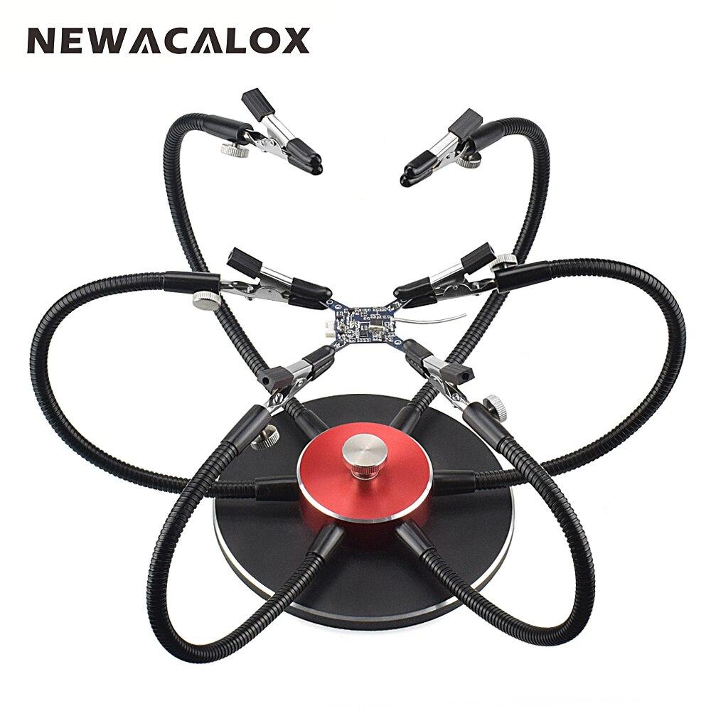 NEWACALOX 360 Degrés Rotatif À Souder Coup de Main Flexible Troisième Pana Main Multifonction À Souder Station Étau Outil De Soudage