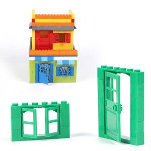 Image 5 - 102 個ドア & 窓レンガ diy 家ビルディングブロックレンガのおもちゃ市建築家子供のための教育レゴと互換性