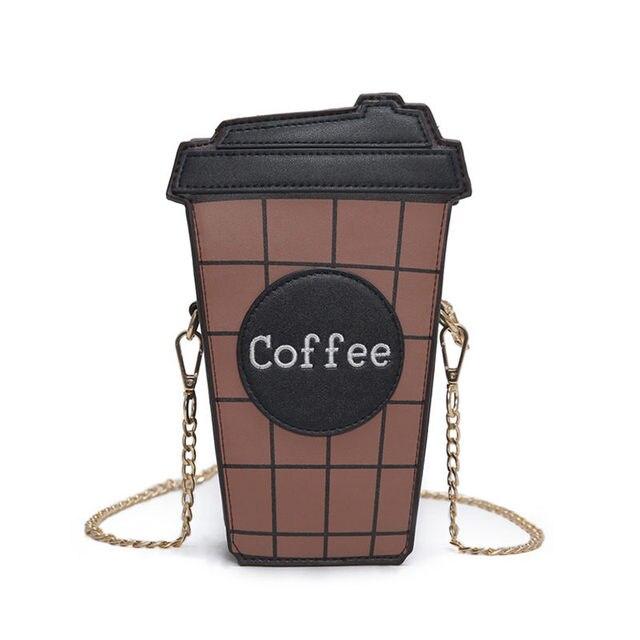 Женский мини-чашка кофе мешок Моды Цепи Мешок женщина crossbody сумки B-51