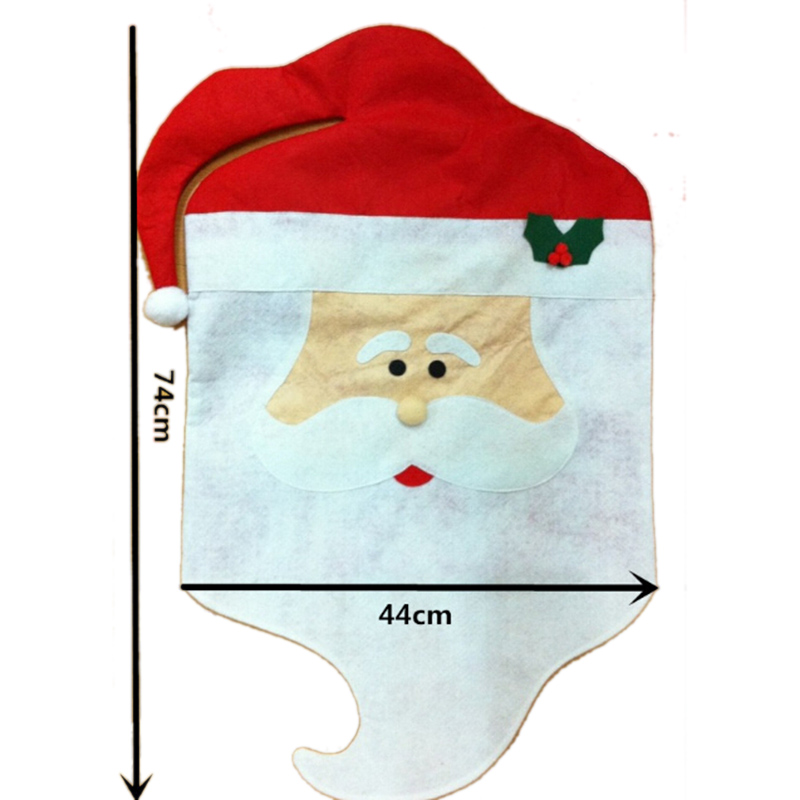 2pcs Christmas Chair Cover Set Mr Mrs Santa Clause Babbo Natale Decoration Hat Covers Xmas Decorations Fit Home Wedding Party In From