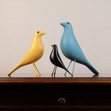 Simple bird TV cabinet decoration Home Decoration Home improvement black and white Lucky bird living room decorations(China)
