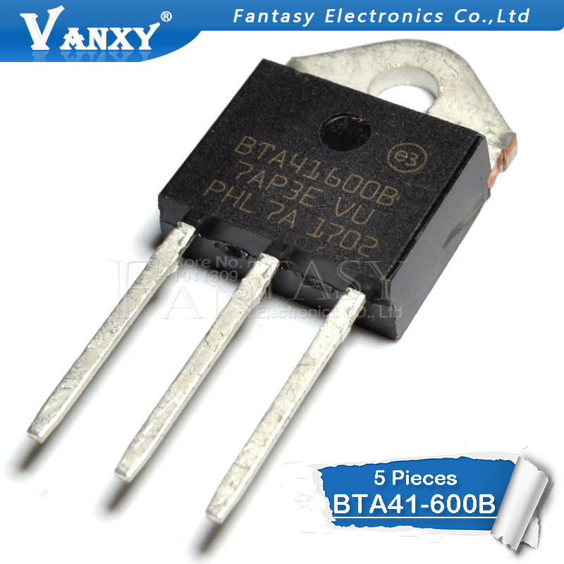 5PCS BTA41-600B TO-3P BTA41-600 TO3P BTA41600B 41-600B New And  Original IC