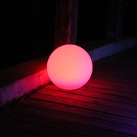 Free Shipping Magic RGB Led Ball Outdoor Diameter 25 CM Rechargeable Glowing Sphere Waterproof Pool Color