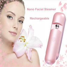 Pink Portable Nano Face Mister Spray Handy Skin Facial Mist Steamer For Eyelashes USB Rechargeable Moisturizing Beauty Equipment
