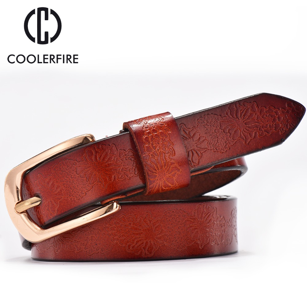 2016 Belts Woman Casual Embossing Leather Ladies Belt ...