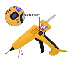 цена на 500W High Power hot melt glue gun Thermostat EU AU US plug  Smart Temperature  Adjustable Digital Display use 11mm glue stick