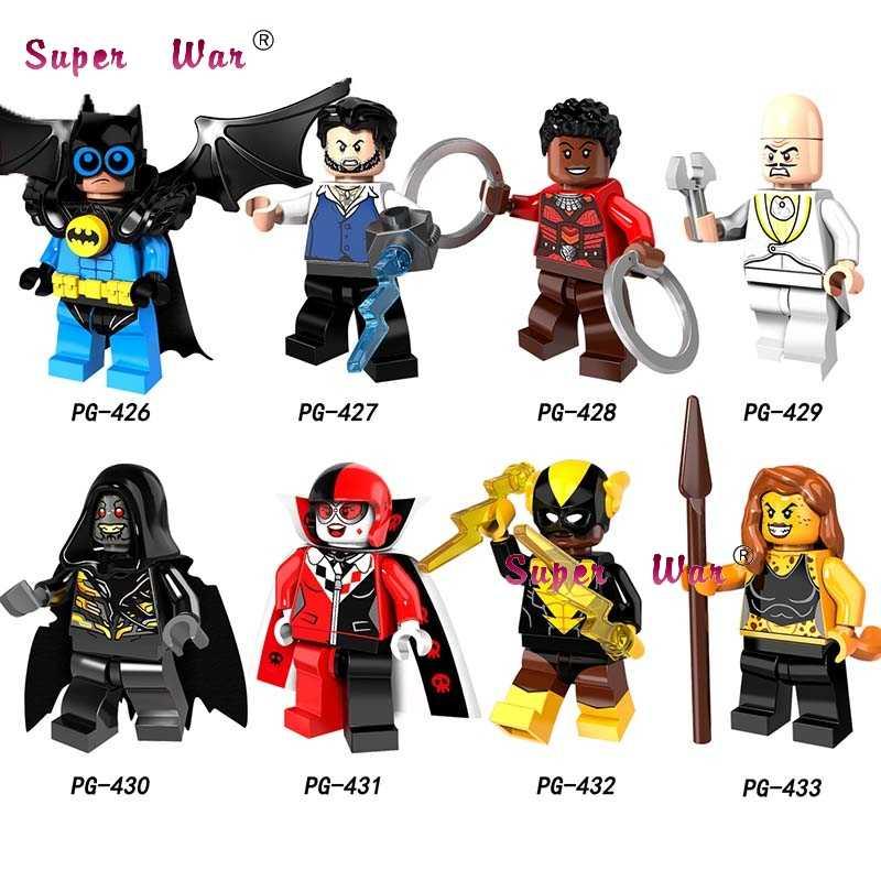 Single Cheetah  Set Black Vulcan Ulysses Klaw Nagiya Corvus Glaive Dr. Eggman Harley Quinn building block toy for children