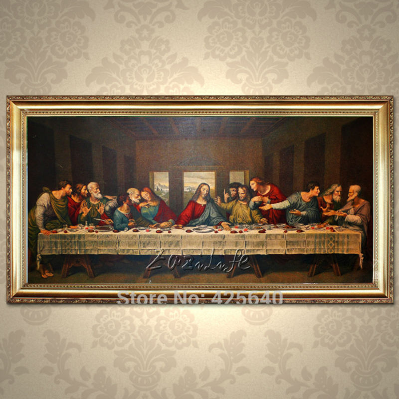 home decor jesus christ the last supper art decor painting print giclee art print on canvas