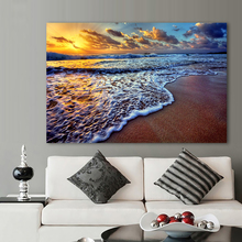 Sunset Beach Sand Sea Picture