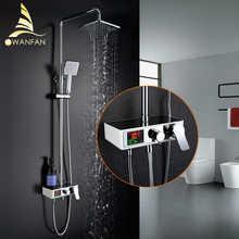 1SET Digital Temperature Display Bath Shower Faucets Set Bathroom Mixer Shower Bathtub Tap Rainfall Shower Wall Tap 877016 - DISCOUNT ITEM  45% OFF All Category