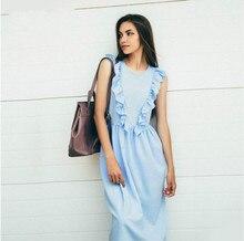 Ruffles Pleated Women's Summer Dresses 2017 Heavenly Blue Elegant Vintage Long Party Clothing Flower Beach Wonder Woman Dress