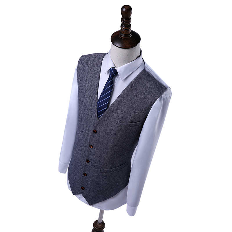 Linyixun New 2018 Men Suits Custom Made Slim Fit Glen Plaid Wedding Suits For Men Suit Prince Of Wales Check Windowpane Suit