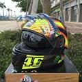 2016 capacetes флип Мотоциклетных шлемов Анфас гонки Шлем double с двумя объективами щит DOT ECE шлем
