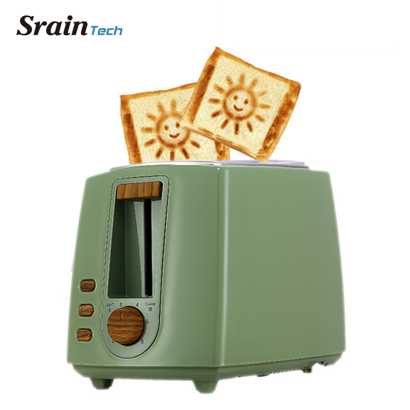 SrainTech Household Bread Toaster Baking Machine Kitchen Appliance Toaster For Breakfast Machine Defrost Reheat Function tinton life household bread baking machine kitchen appliance toaster for breakfast