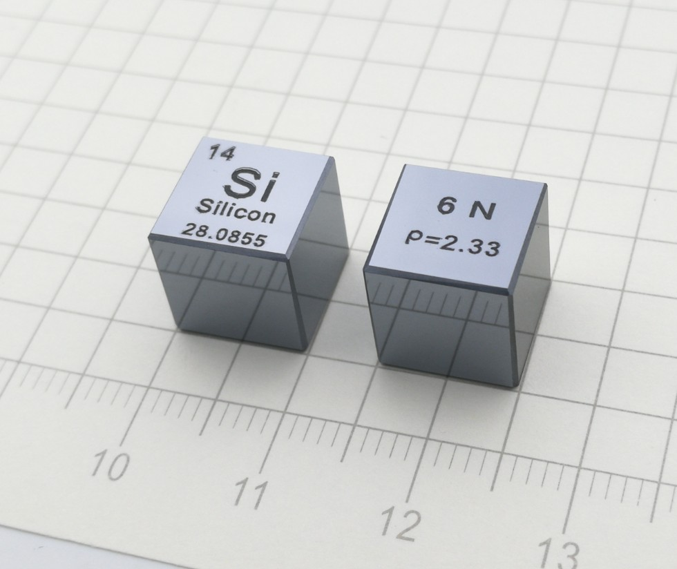 Silicon Metal 10mm Density Cube 99 9999 Pure for Element Collection