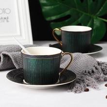 Lekoch Upmarket Tea Sets Coffee Cups Plates Unique High Quality Mug Porcelain Saucer Ceramic Reusable Cup Time Couple Gift