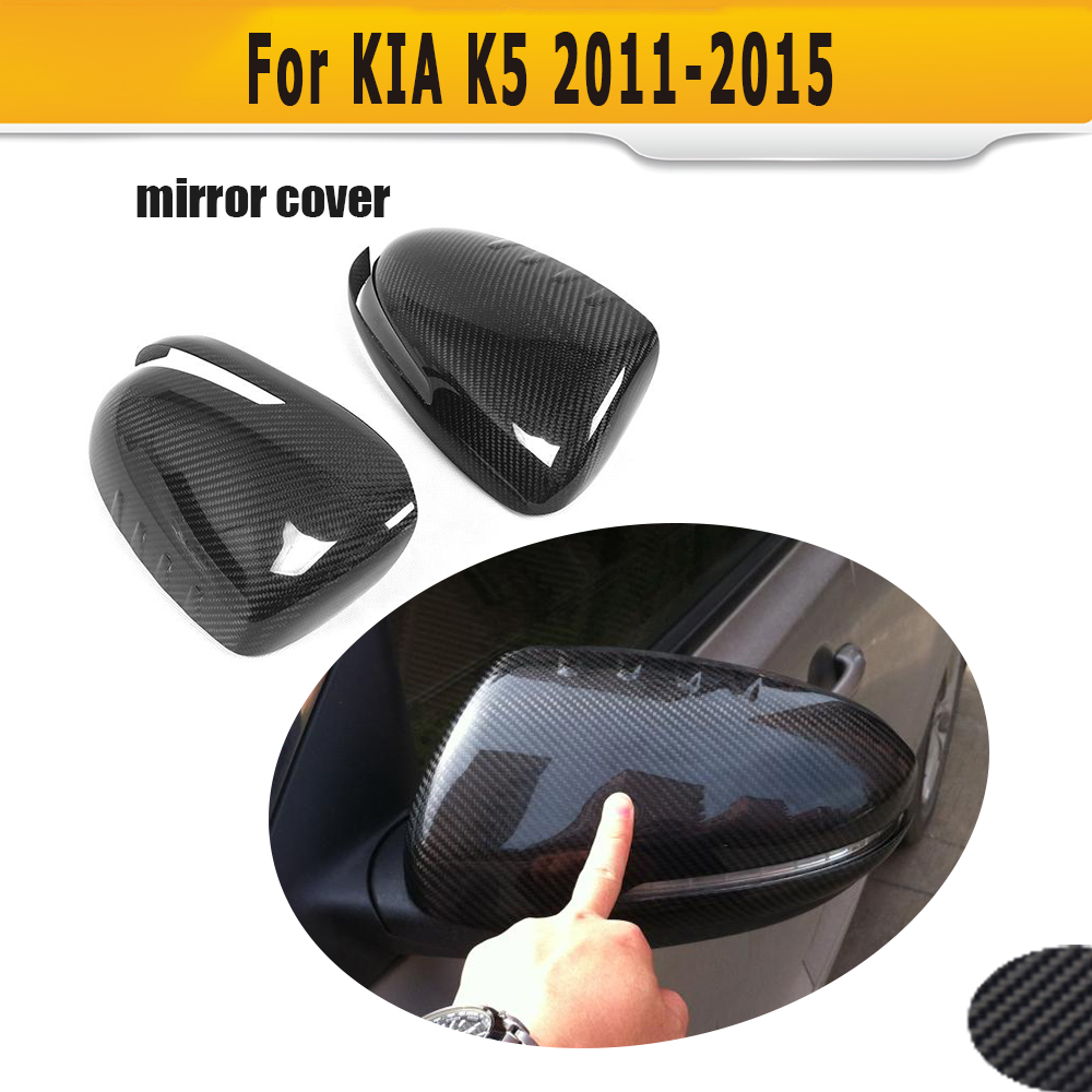 carbon fiber car mirror covers caps Shell for KIA Optima K5 2011 2012 2013 2014 2015 Add on Sytle блокиратор рулевого вала fortus kia optima 2011 2013 csl 2503