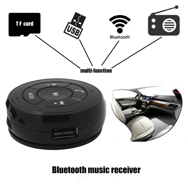 Bluetooth Receiver Hands Free Car Kit Wireless Music Adapter: Car Kit Wireless FM Bluetooth Music Receiver Phone Audio Adapter Adsorption Design Support Hands