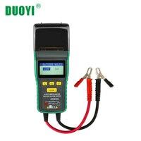 DUOYI DY2015C автомобильный аккумулятор тестер 12 В 24 В свинцово кислотный анализатор Авто CCA 100 1700 SOH со встроенным принтером портативный измерите