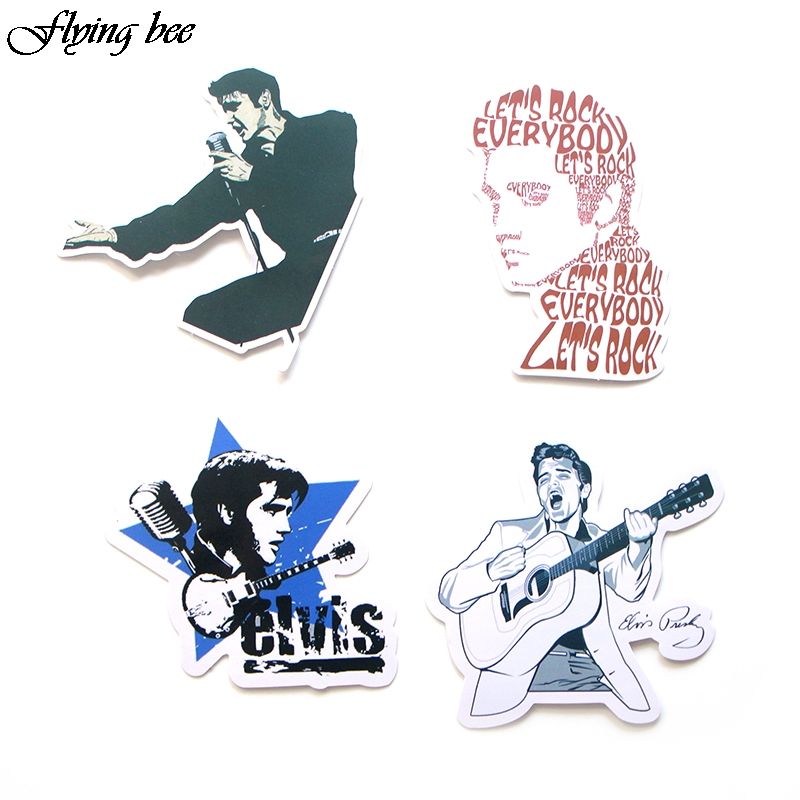 Image 5 - Flyingbee 14 Pcs Sticker Graffiti The King Funny Stickers for DIY Sticker on Travel case Laptop Skateboard X0024-in Stickers from Consumer Electronics