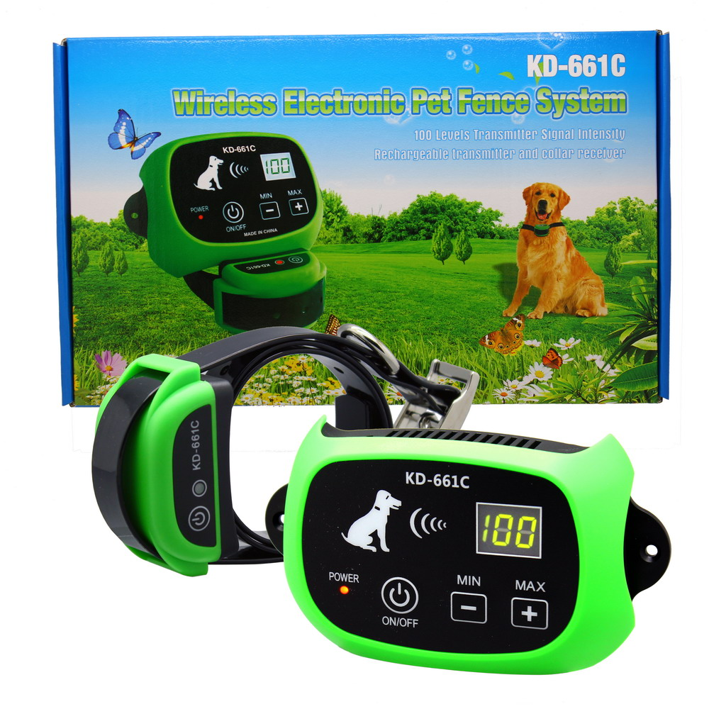 Wireless Dog Fence Pet Containment System Rechargeable Waterproof 1//2//3 Dogs MA