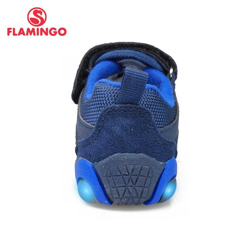 קווסט מותג אביב פנאי LED ספורט ריצה נעלי וו & לולאה חיצוני סניקרס חיל הים לילד גודל 23-29 משלוח חינם 91K-SM-1240