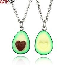 OATHYAN новейшие модные подвески с фруктовым авокадо, длинная цепочка с сердцем, ожерелье s для женщин, ожерелье лучших друзей, подарки, ювелирные изделия