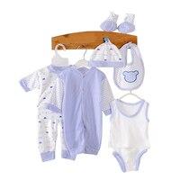 8 PCS a Roupa Do Bebê Recém-nascido Da Menina do Menino Macacão de Bebê de Alta Qualidade Presentes Roupas Enxoval Unisex Macacão de bebê Recém-nascido conjunto de roupas