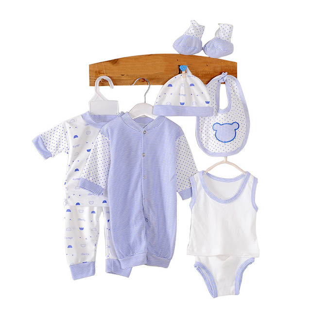 ac7c943a2898 8PCS Baby Rompers High Quality Newborn Baby Clothes Girl Boy ...