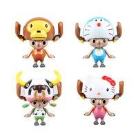 Chanycore Anime EEN STUK 4 stijl 8 CM POP Tony Tony Chopper COS Doraemon Koeien hello kitty Luffy Actiefiguren speelgoed