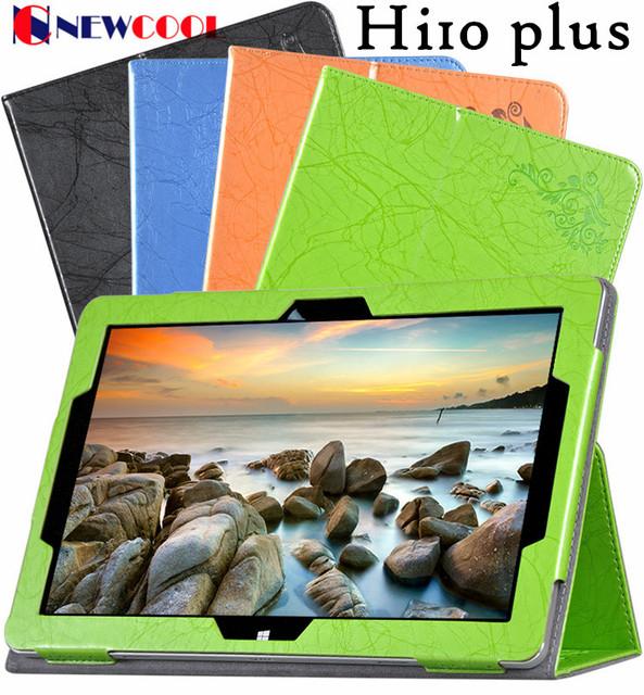Tirón de la cubierta case para chuwi newcool vi10 hi10 plus 10.8 pulgadas tablet pc impreso floral de cuero case smart cover + 1 unid pantalla película