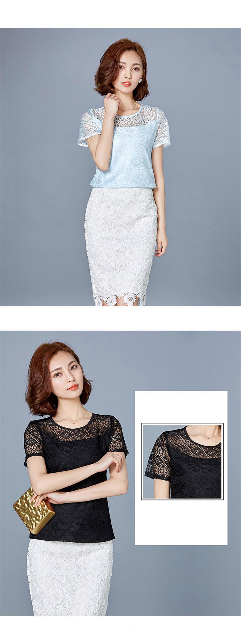 HTB1X37IPpXXXXX1apXXq6xXFXXXg - New women tops lace chiffon blouse korean office female clothing