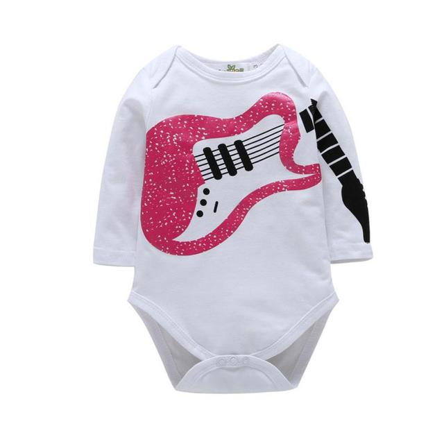 a274c4e0f564 Toddler Infant Kids Baby Girl Boy Guitar Casual Romper Playsuit ...