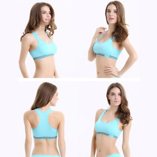 New Sexy Shockproof Wireless Push Up Top Vest Women Sports Bra Padded Running Gym Seamless Comfort Athletics Bra Brassiere
