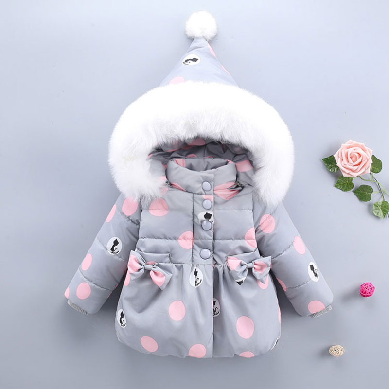 купить Baby girls 1st birthday clothing outfits winter fall cotton jacket outerwear for newborns babies clothes hooded jackets coats по цене 1623.78 рублей
