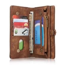 For Samsung S7 Edge Case Genuine  Leather Flip Wallet Cover Multifunctional Card Holder Phone Bags Free Shipping