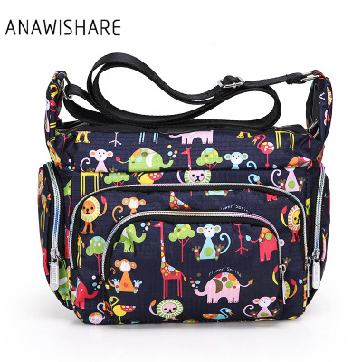 2017 Canvas Crossbody Bags Women Messenger Bags Floral Printing Small Shoulder Bag Ladies Summer Beach Bags Waterproof Handbags