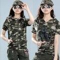 Los Militares Camuflan Populares de Caballero de Las Mujeres libres Camiseta, Ropa de Algodón de manga Corta T-shirt Puede Usar Ambos Tamaño M-XXL