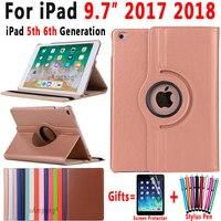 360 градусов вращающийся кожаный чехол для Apple iPad 9,7 2018 2017 A1822 A1823 A1893 A1954 5th 6th 5 6 поколения принципиально