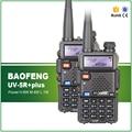 2 UNIDS Original BAOFENG Baofeng UV-5R PLUS 8 W de Alta Potencia VHF/UHF 136-174/400-520 MHz Verdadera de Dos vías del Jamón de doble Banda FM Walkie Talkie