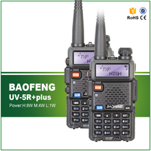 2PCS Original BAOFENG Baofeng UV-5R PLUS 8W High Power VHF/UHF 136-174/400-520MHz Dual Band FM True Two-way Ham Walkie Talkie