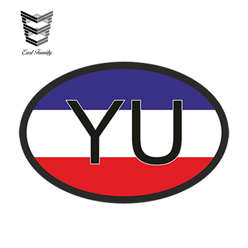 Car Stickers Official Website Earlfamily 13cm X 8.8cm Car Styling Yu Yugoslavia Country Code Oval With Yugoslavian Flag Car Sticker Helmet Waterproof Decal Relieving Heat And Sunstroke Automobiles & Motorcycles