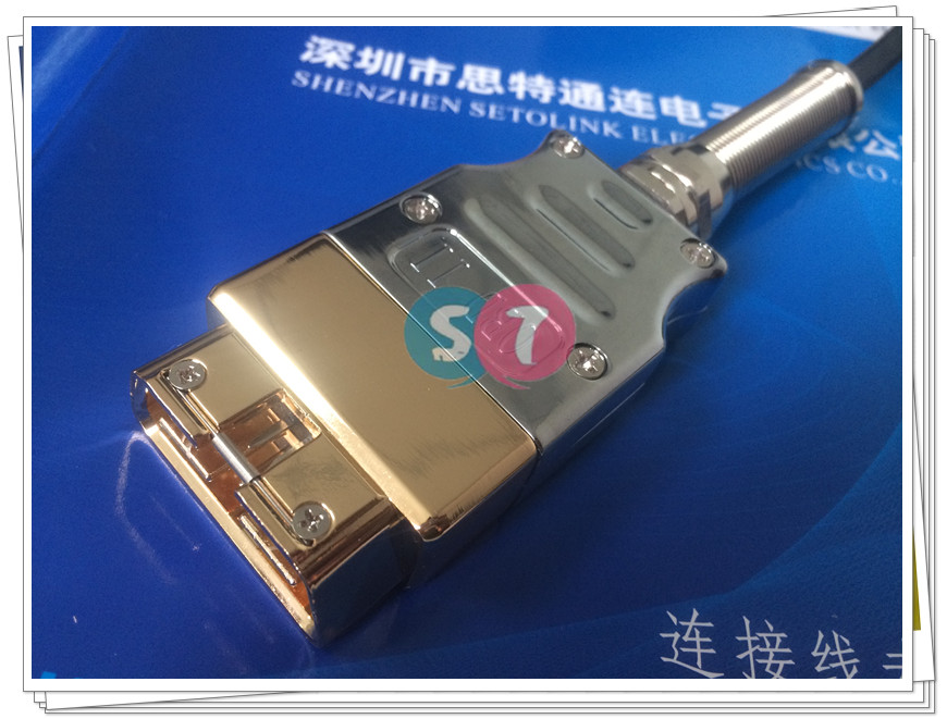 GOLDEN PLATED STAINLESS STEEL OBD 16 PIN HOUSING WITH CONNECTOR
