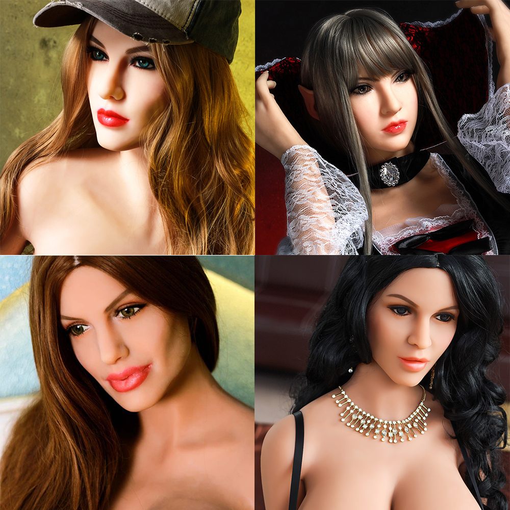 Hanidoll Sex Dolls Head Height for 140cm~170cm Real silicone Love Doll Heads With Oral For Men real doll head M16 screw standardHanidoll Sex Dolls Head Height for 140cm~170cm Real silicone Love Doll Heads With Oral For Men real doll head M16 screw standard