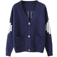 Women Cardigan Sweater Korean Style 2018 Spring And Autumn Fashion Short Design Female Loose Long Sleeve