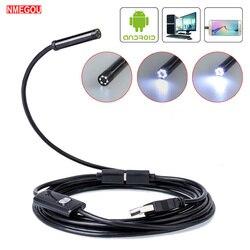 Wodoodporny telefon kamera endoskopowa kontroli elastyczny mikro Usb telefon z systemem android soczewka powiększająca do samochodu wąż kabel boroskop 5.5mm/7mm w Obiektywy do telefonów komórkowych od Telefony komórkowe i telekomunikacja na