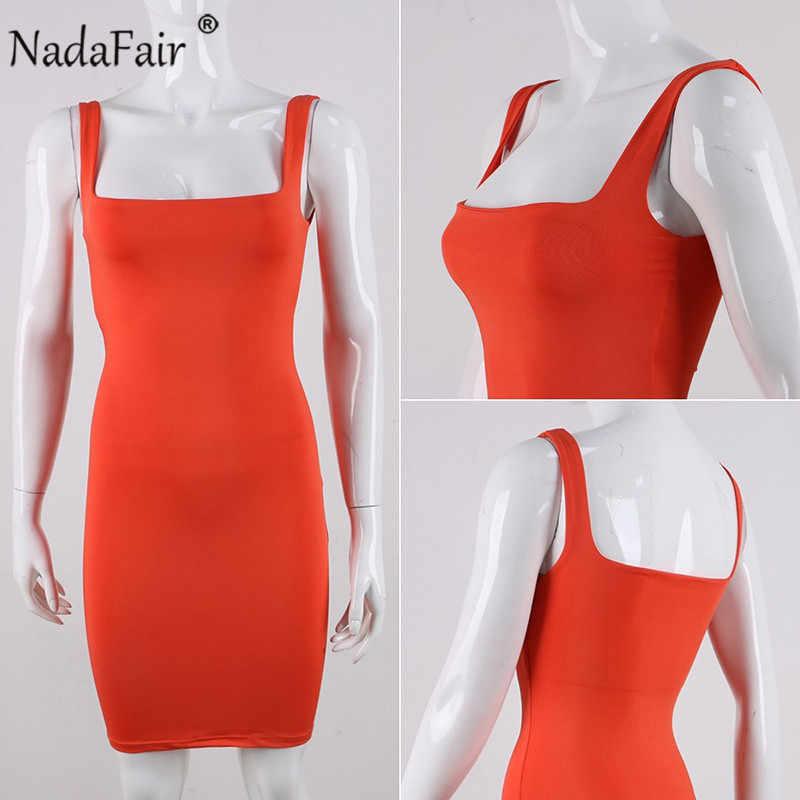 Nadafair с открытыми плечами мини облегающее летнее платье для женщин с открытой спиной сексуальное для вечеринок обертывание неоновое платье плюс размер Vestidos 2019