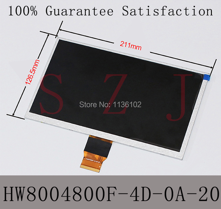 (Ref:HW8004800F-4D-0A-20) 9 9inch LCD LCM Display PANEL screen For Allwinner A13 Q9 Q90 Tablet PC Free shipping 5Pcs/lot